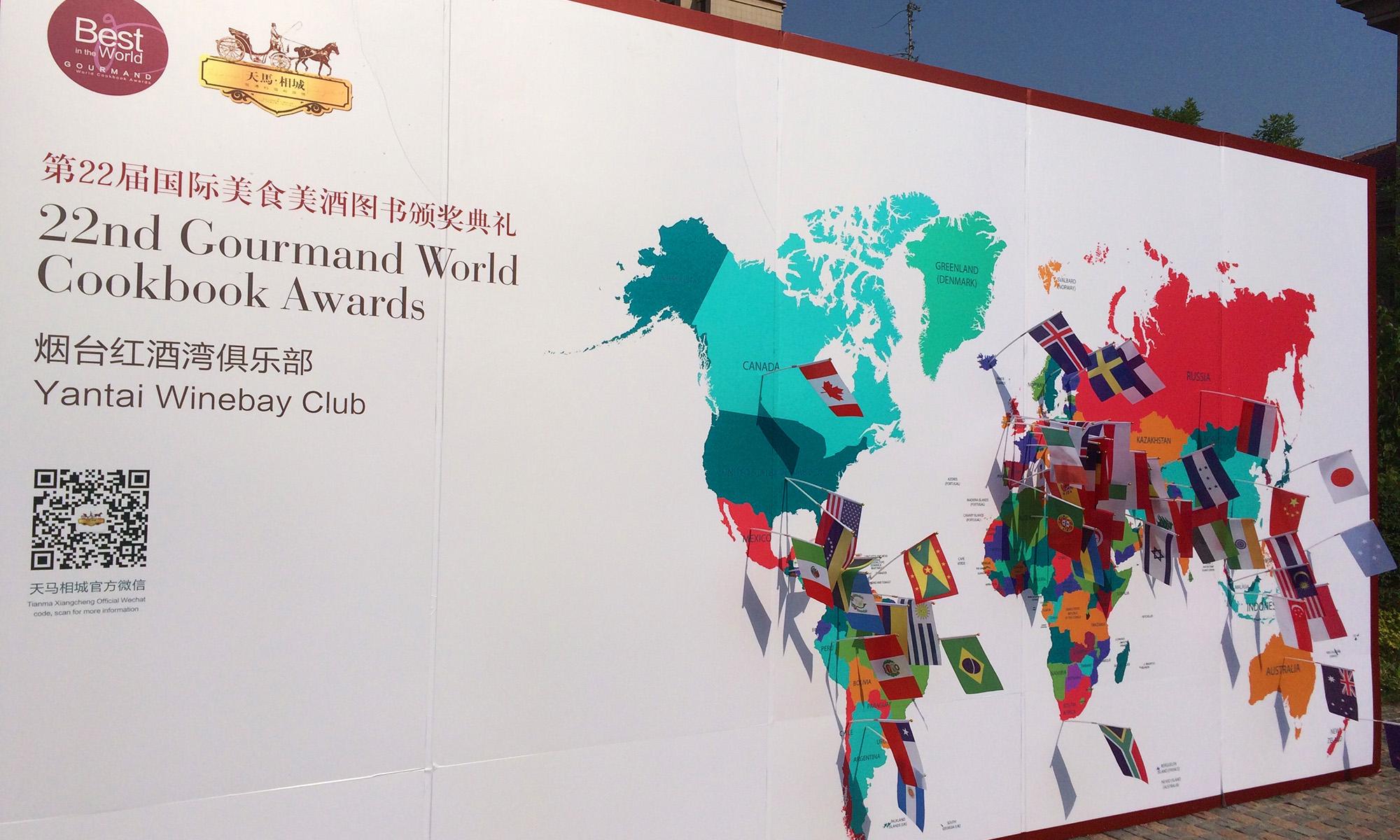 Weltkarte mit teilnehmenden Ländern