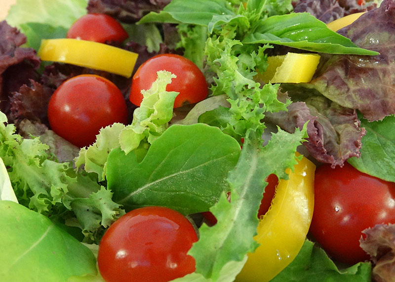 Darm braucht Ballaststoffe wie Salat